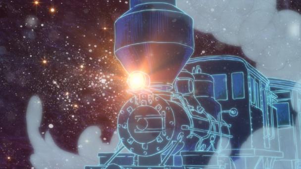 Die galaktische Eisenbahn spielt in der Fantasie von Junpei und Kanta eine wichtige Rolle.